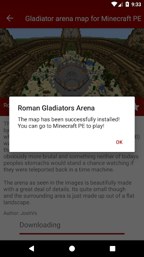 Gladiator arena map for Minecraft PE for PC