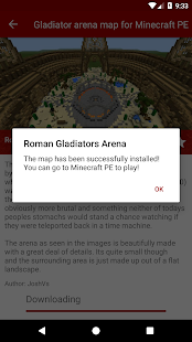 Gladiator arena map for Minecraft PE - náhled