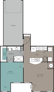 Go to THA1L 1B Lower Townhome 1C Garage Floorplan page.
