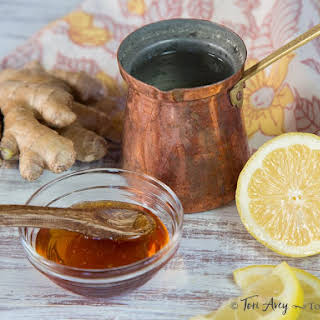 Lemon Ginger Cider Vinegar Infusion.