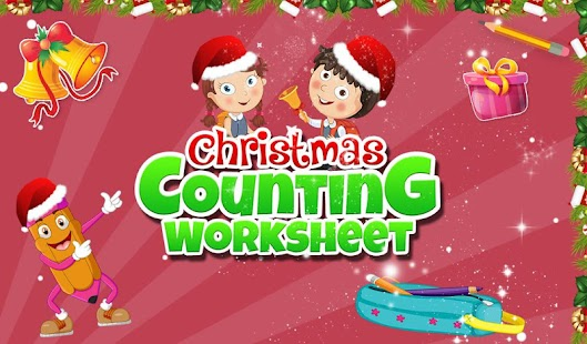 Christmas Counting Worksheet- screenshot thumbnail