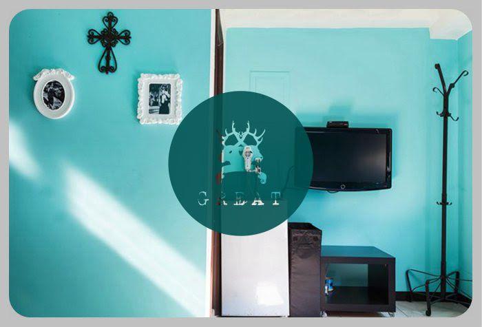 台中一中街住宿 台中背包客住宿 聖女藍房型