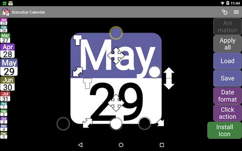 Status bar Calendar Demo- screenshot thumbnail