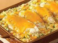 Cheesy Chicken & Rice Casserole. Recipe