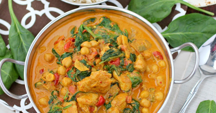 Chickpea and Chicken Curry with Spinach
