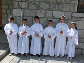 Photo: Prvopričesnici iz sela Miša
