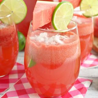 Watermelon Coconut Rum Punch.