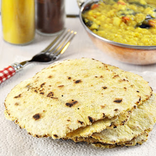 4 Ingredients Chickpea & Coconut Flatbread / Besan Roti, Vegan Friendly & Gluten Free.