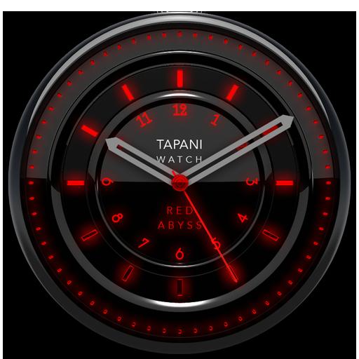 RED ABYSS Design Clock Widget