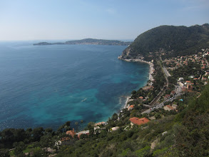 Photo: ... and down at Eze-sur-Mer, our destination.
