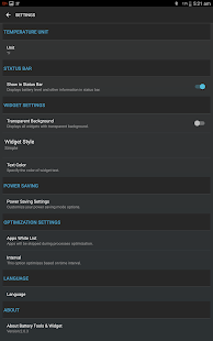 Battery Tools & Widget for Android (Battery Saver) Screenshot