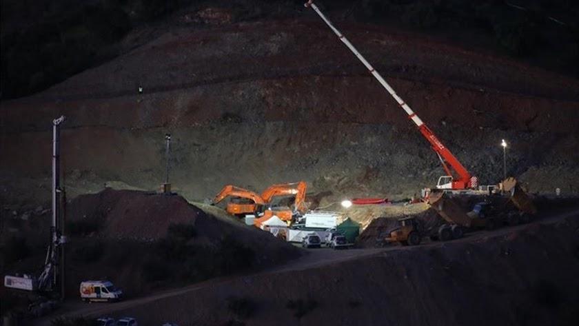 Trabajos llevados a cabos para rescatar al pequeño Julen./ EUROPA PRESS / ÁLEX ZEA
