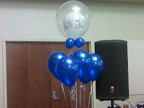 Photo: balloon bouquet to accent tiara arch