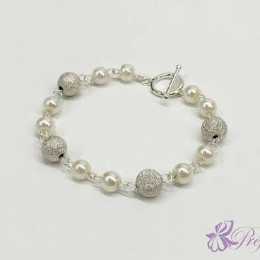 [PLN006] 銀光珍珠手鏈