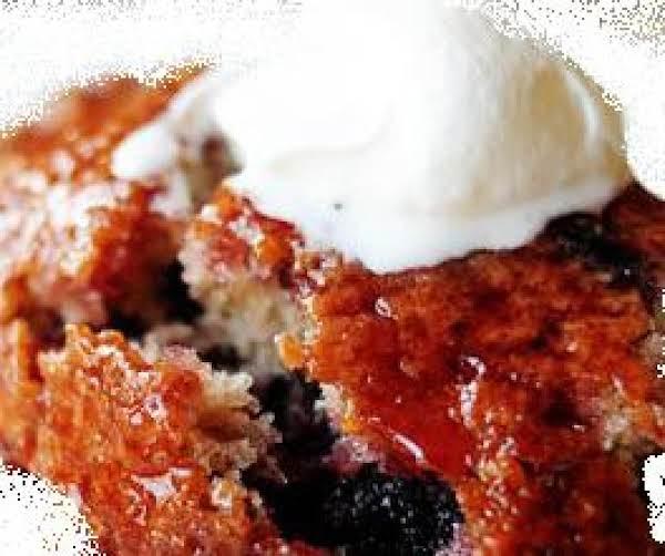 Saucy Tart Cherry Cobbler Cake- Grandma's Recipe