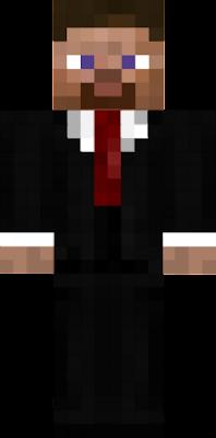 minecraft steve suit.
