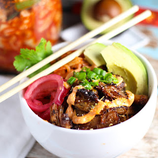 Carnitas Taco Bowls with Kimchi