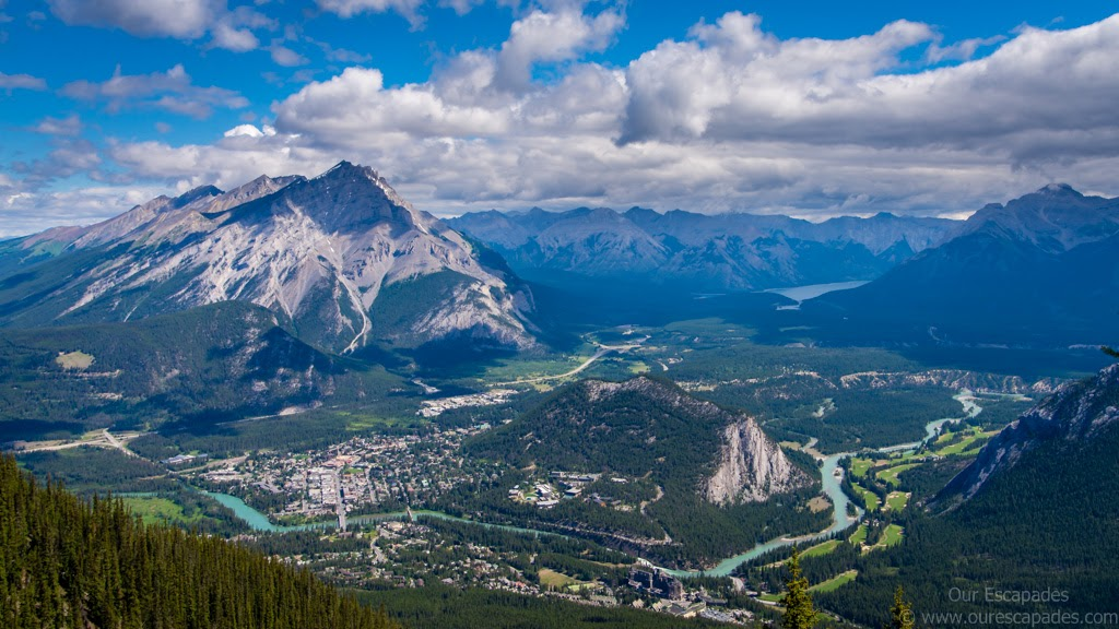 Gorgeous views from the top of Sulphur Mountain