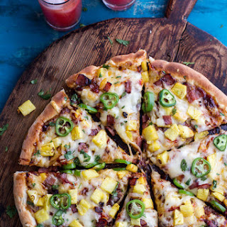 The TJ Hooker Pizza (Chipotle BBQ and Sweet Chili Pineapple + JalapeñO Pizza with Bacon)! Recipe