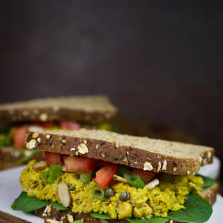 Curry Chickpea Sandwiches.