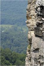 Photo: Seneca Forever A view to Ecstasy 5.7, Seneca Rocks, VW, Aug 2004 Nikon N70, 70-200 / 2.8 VR