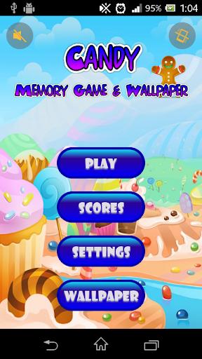 糖果记忆游戏和壁纸