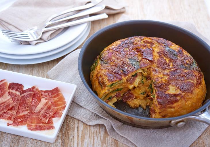 Tortilla with Spinach and JamóN IbéRico Recipe