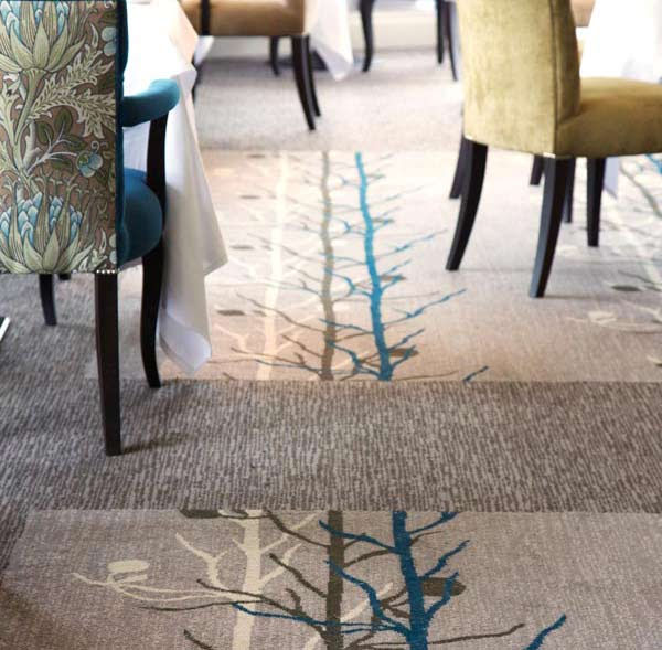 Park Grove design bespoke carpet for hotel restaurant