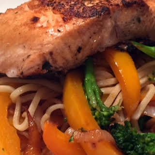 Asian Salmon with Noodles.