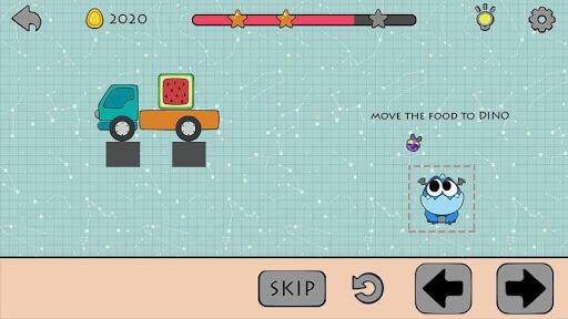 Dino Brain: Brain It On - Draw Physics Line apkpoly screenshots 3