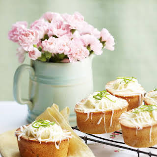 Macadamia, Coconut and Lime Friands.