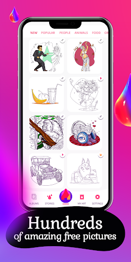 Colorain: Paint by Numbers 🔢 or Free Coloring 🎨 1.2.4 screenshots 1