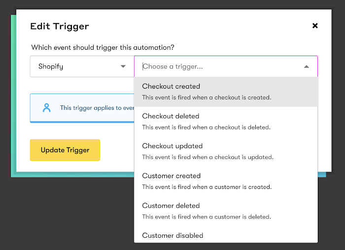 Shopify trigger