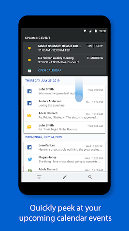 BlackBerry Hub+ Inbox Screenshot