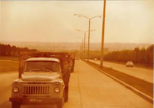 Photo: Tiet oli komeita ja liikennettä vähän.
