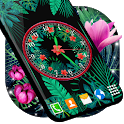 Jungle Forest Clock 🌺 Black Watch Live Wallpaper icon