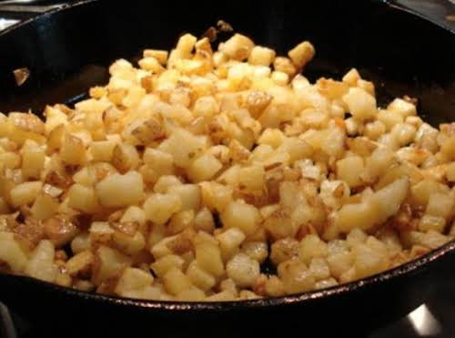 """Click Here for Recipe: Dad's Breakfast Potatoes """"The kids love these potatoes..."""