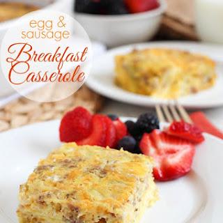 Egg & Sausage Breakfast Casserole.