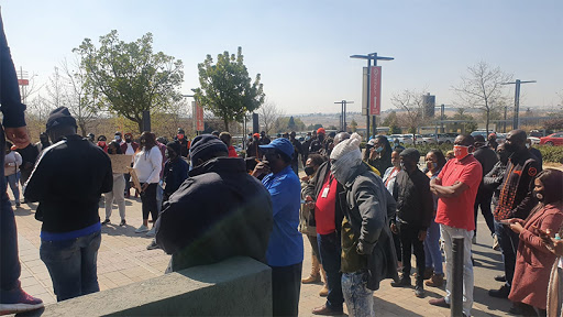 Cell C employees demonstrating about the imminent job cuts.