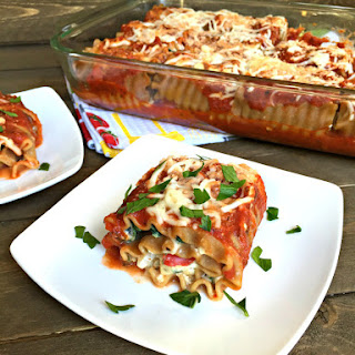 Whole Wheat Vegetable Lasagna Roll Ups