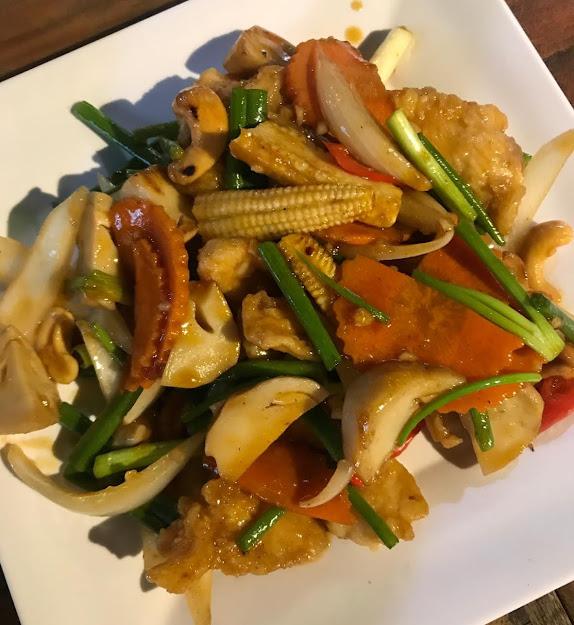seafood dinner at Nopparat Seafood