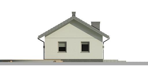 Dom przy Topolowej 2 - Elewacja lewa