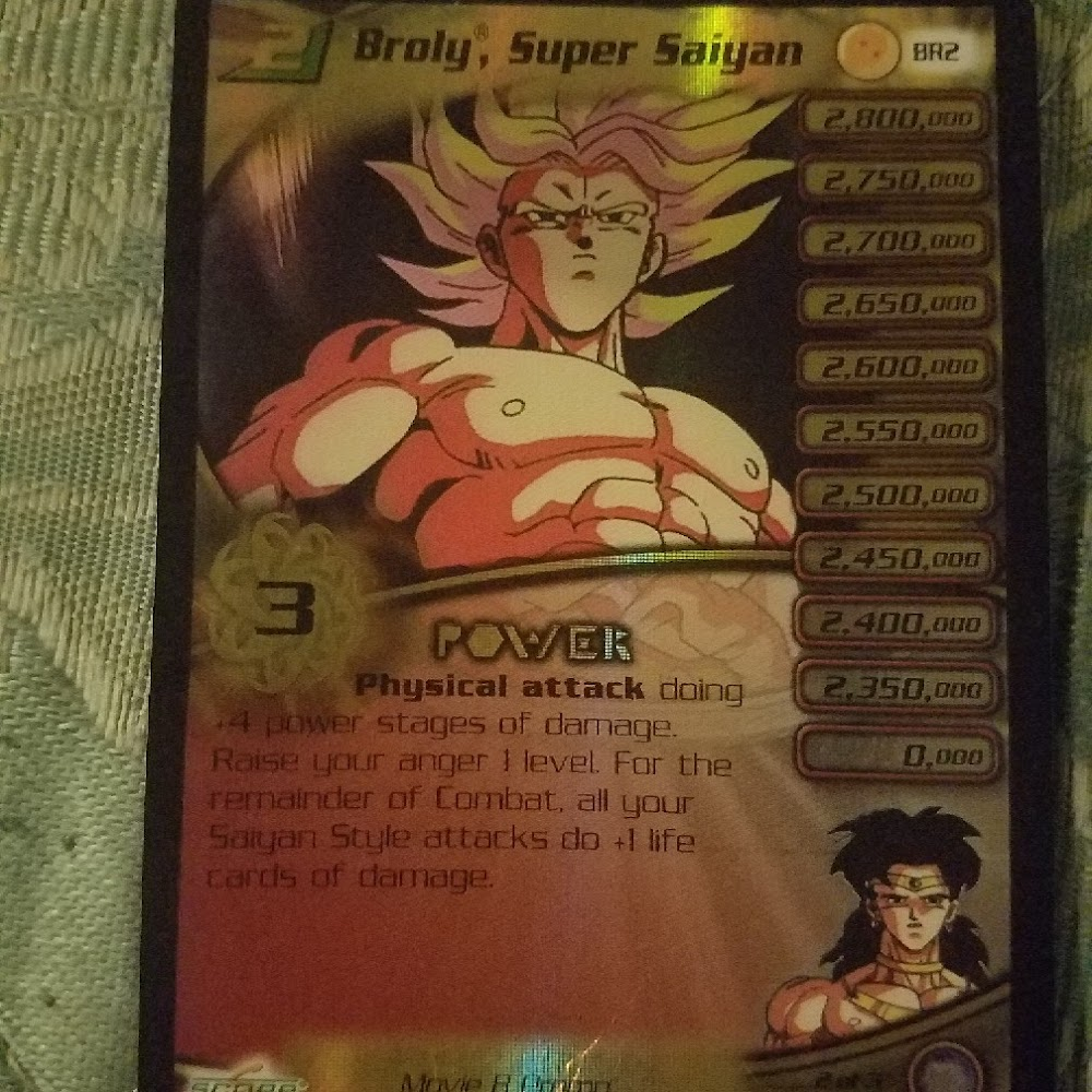 Broly, super saiyan Level 2. personality card (foil-gold)