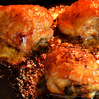 Slow Cooked Honey Garlic Chicken Thighs.