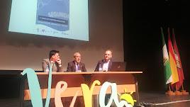 Los alcaldes de Vera y Cuevas durante su ponencia.