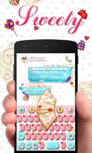 Sweety GO Keyboard Theme Emoji