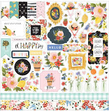 Carta Bella Oh Happy Day Spring Cardstock Stickers 12X12 - Elements