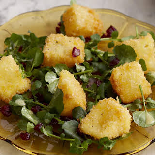 Camembert with Cranberry and Watercress Salad.