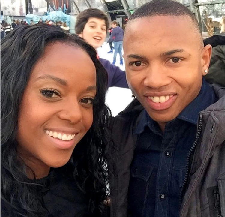 Football star Andile Jali and his wife Nonhle Ndala.