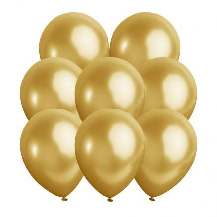 Ballonger, metallic guld 10 st